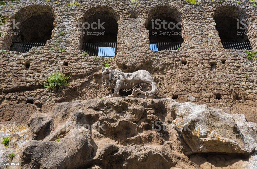 Monterano (Rome) - Medieval ruins in Italy stock photo