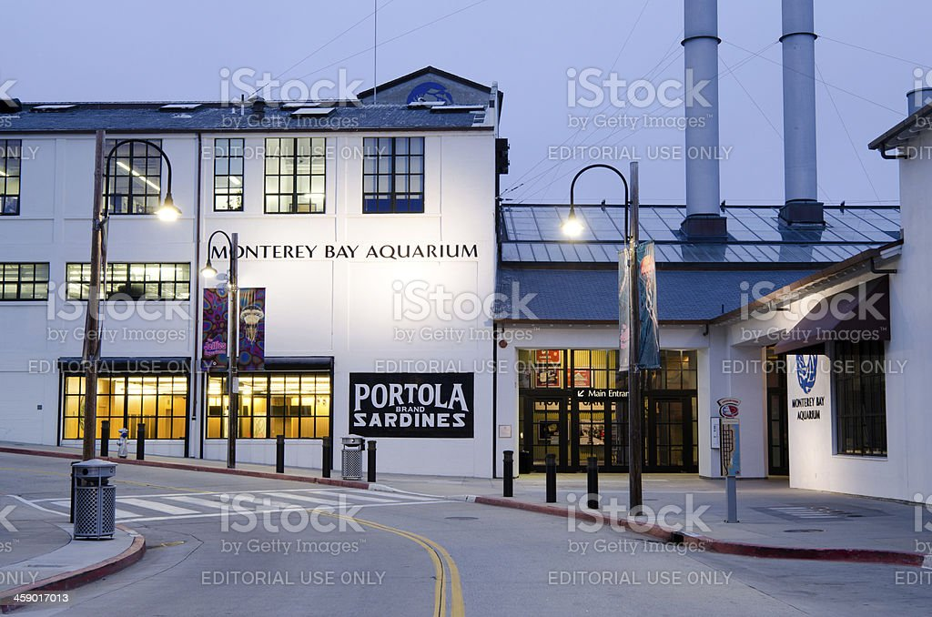 Monterey Bay Aquarium along Cannery Row stock photo