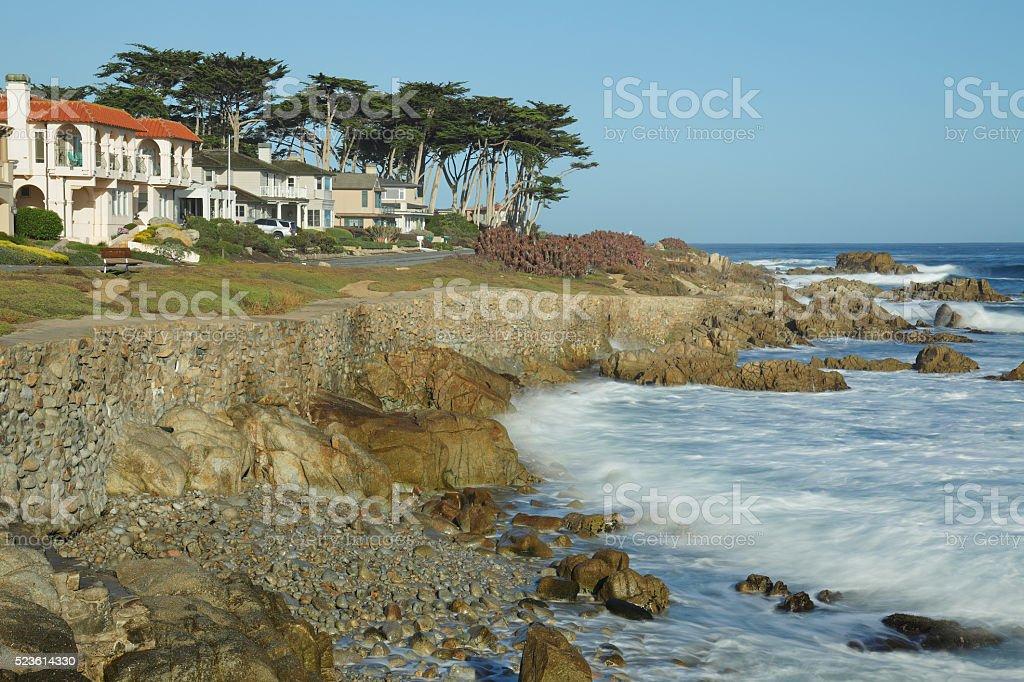 Monterey Bay Coastline - Pacific Grove stock photo
