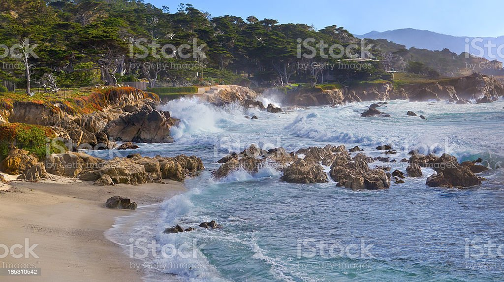 Monterey Bay Coastline stock photo