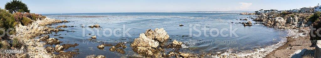 Monterey Bay Panoramic royalty-free stock photo