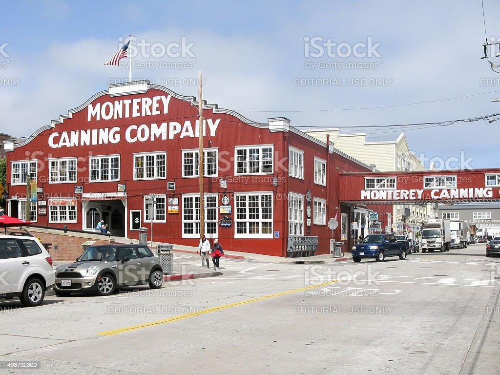 Monterey Canning Company, California stock photo