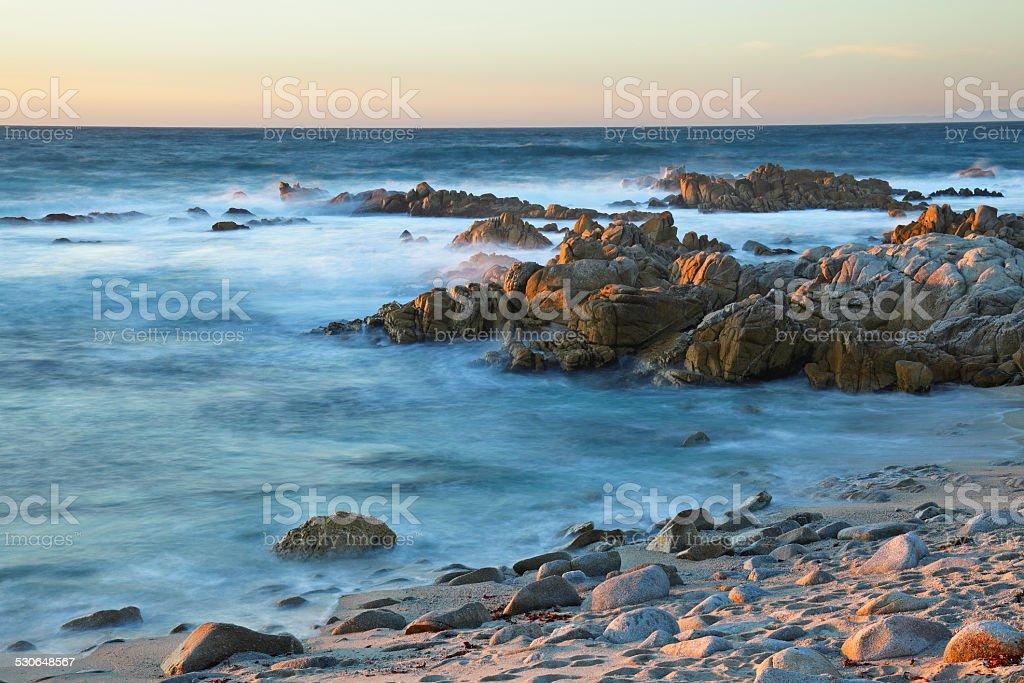 Monterey Coastline Sunset stock photo