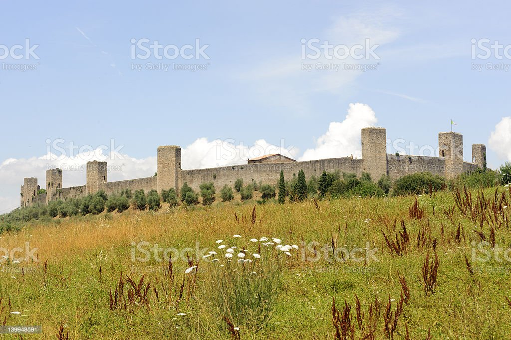 Monteriggioni royalty-free stock photo