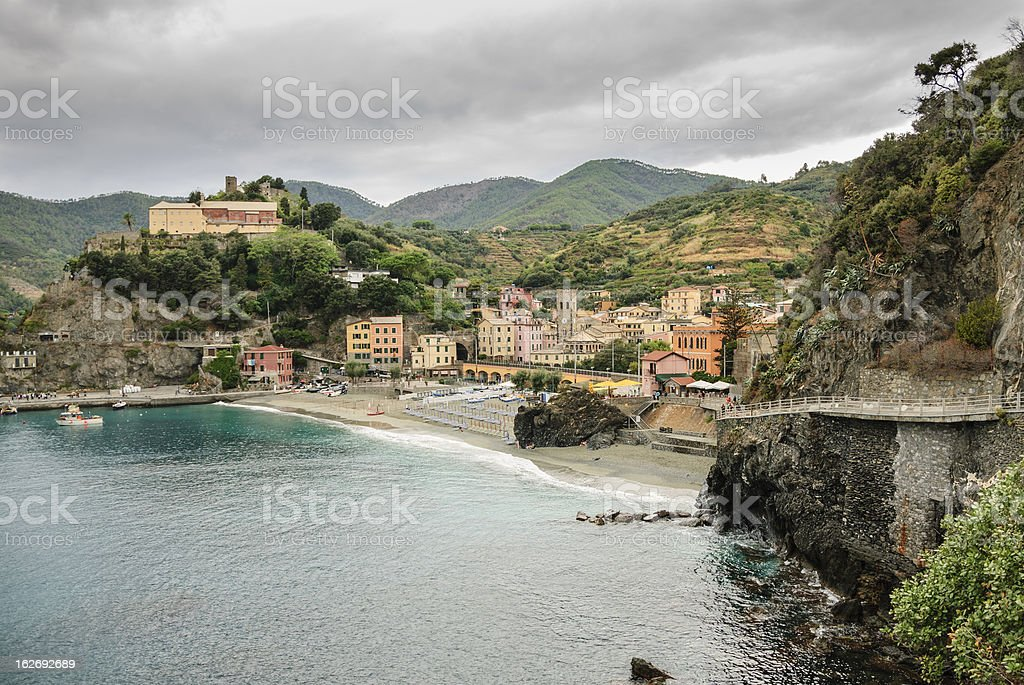 Monterosso, Italy and its harbor royalty-free stock photo