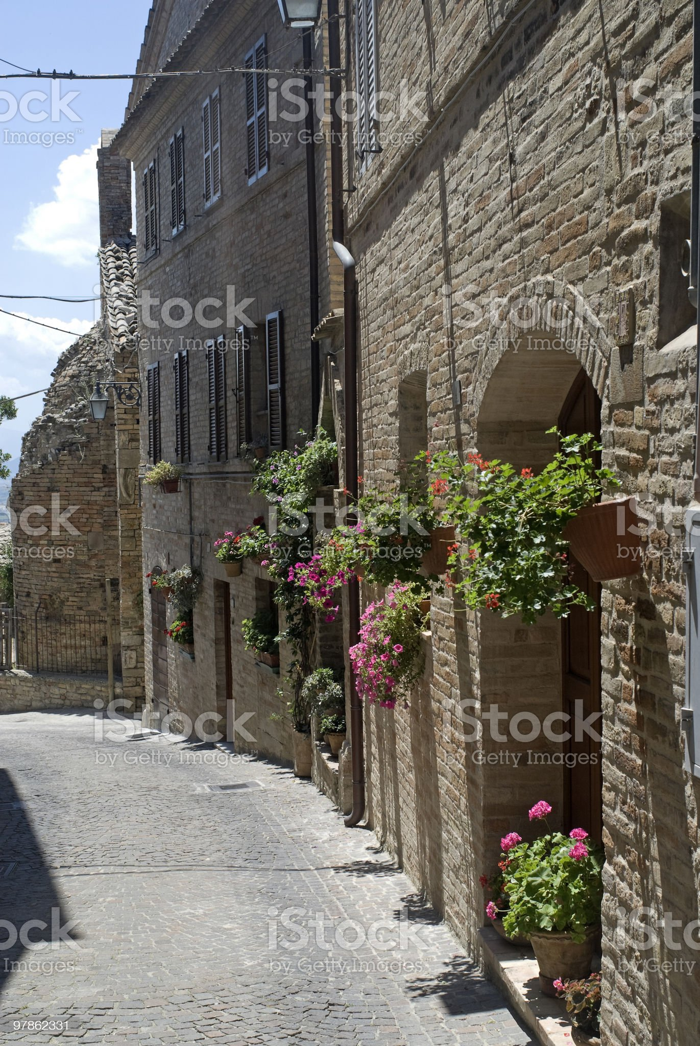 Monterubbiano (Marches, Italy), medieval town royalty-free stock photo