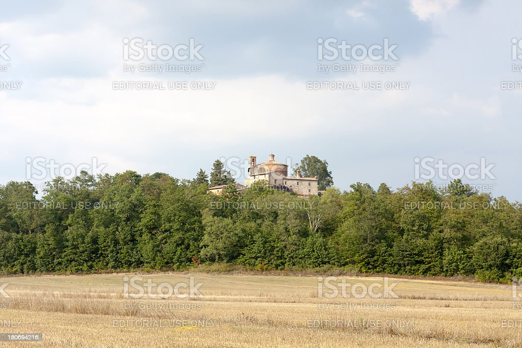 Montesiepi's Hermitage stock photo