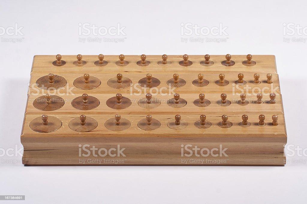 Montessori Cylinder Blocks stock photo