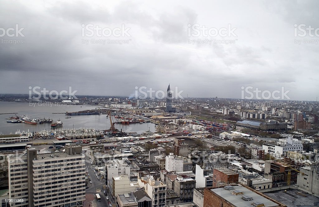 Montevideo: Downtown royalty-free stock photo