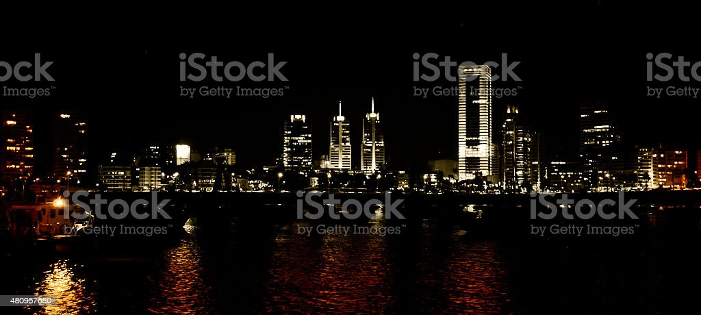 Montevideo in the mood. stock photo