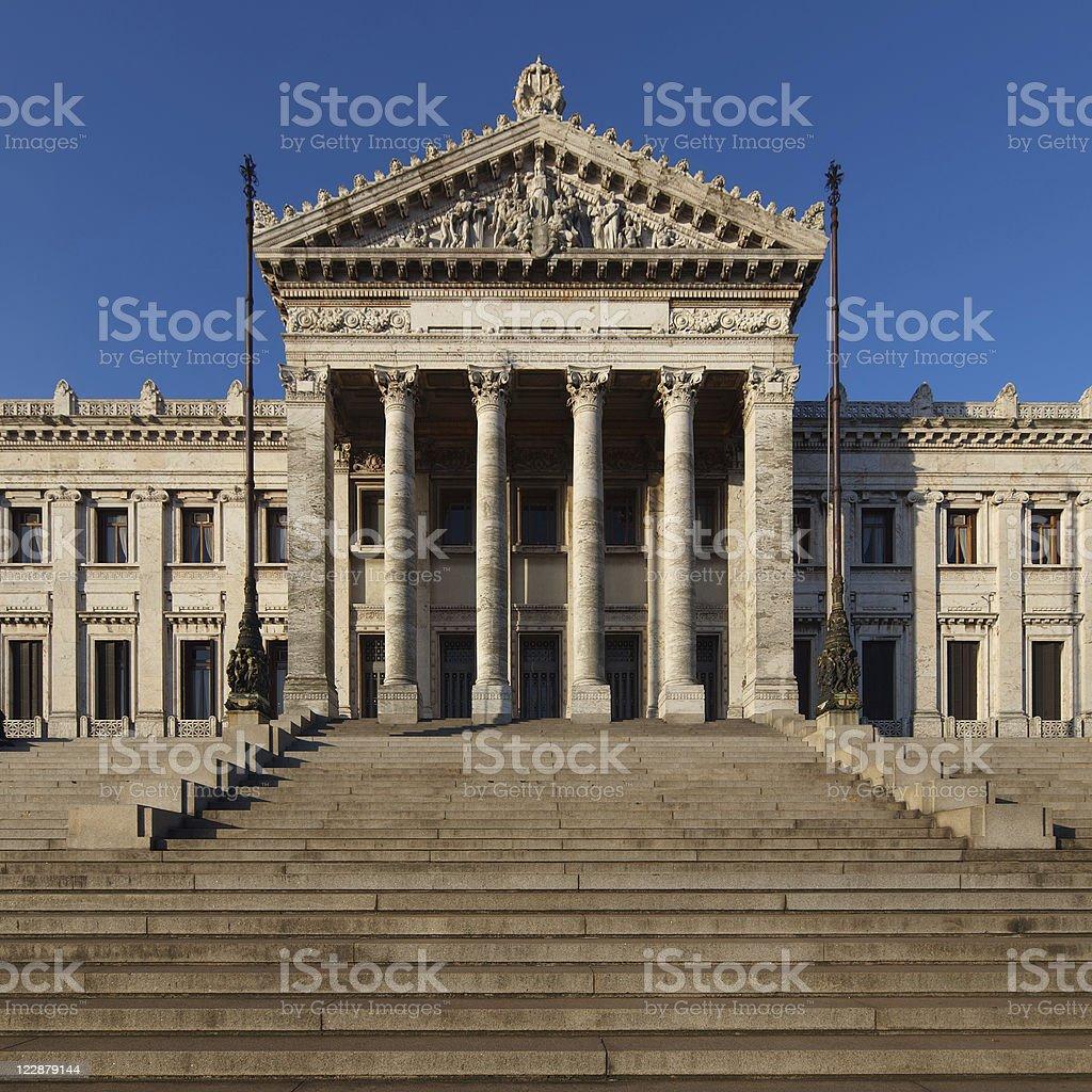 Montevideo, Uruguay Parliament Building royalty-free stock photo