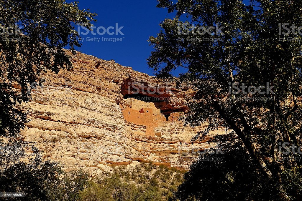 Montezuma Castle, Arizona stock photo