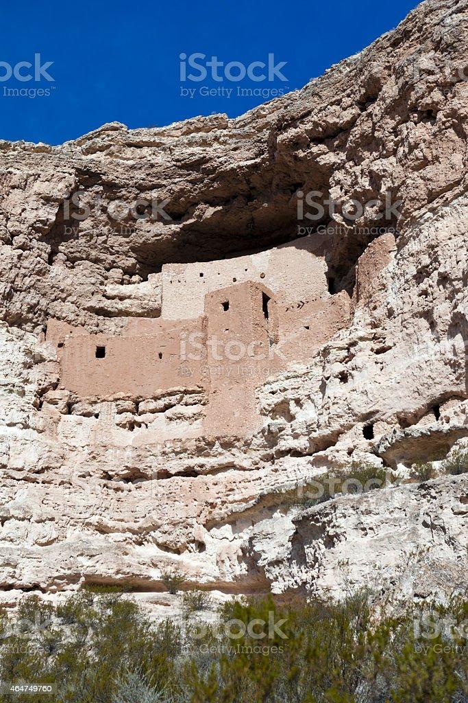 Montezuma Castle Cliff Dwelling In Arizona, USA. stock photo