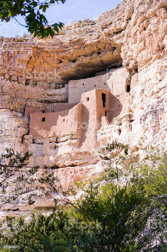 Montezuma Castle National Monument in Arizona royalty-free stock photo