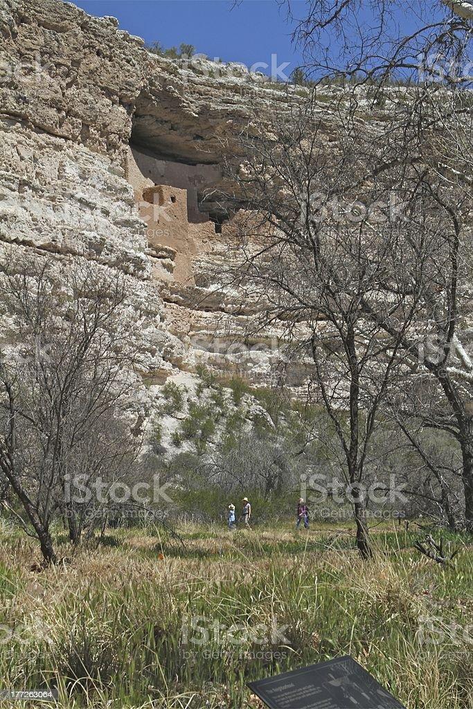 Montezuma Castle with Scale stock photo