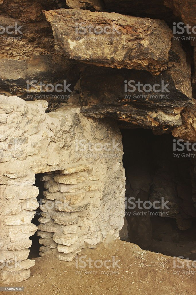 Montezuma Well Cliff Dwelling Ruin royalty-free stock photo