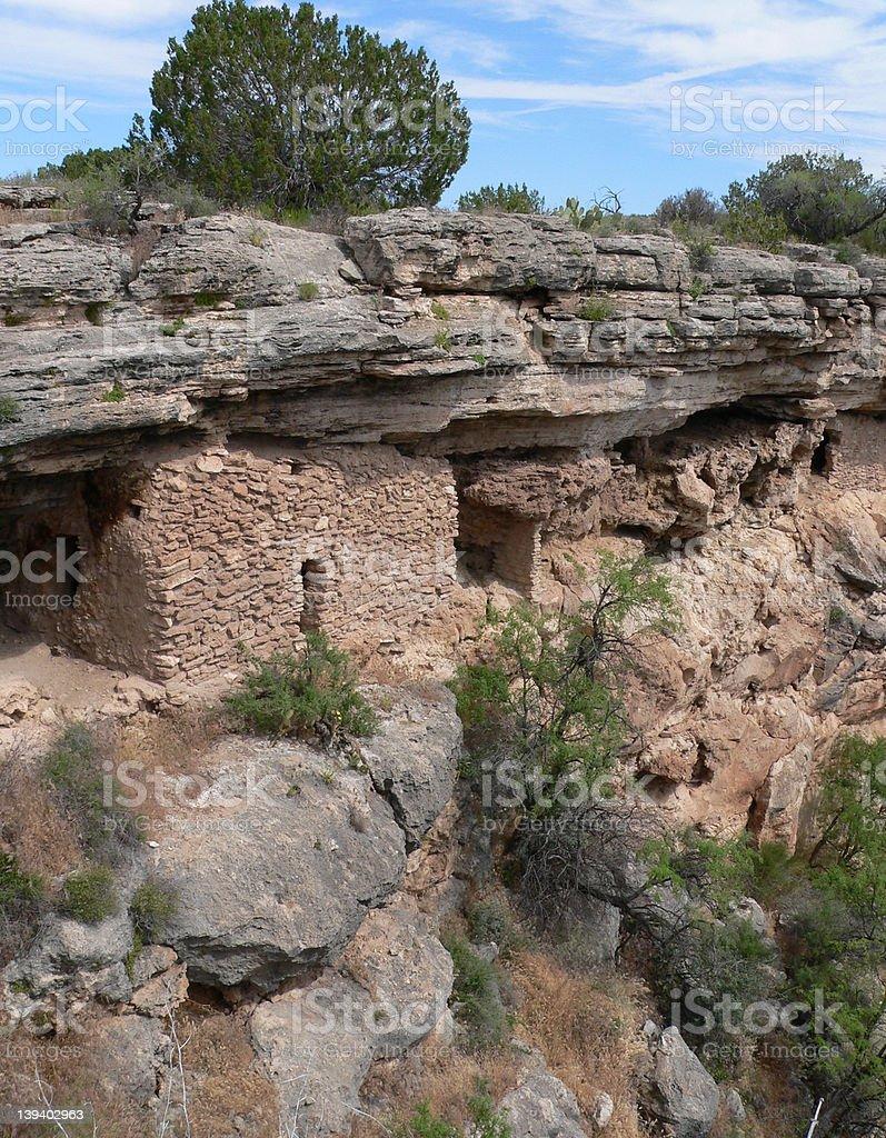 Montezuma Well Cliff Dwellings royalty-free stock photo