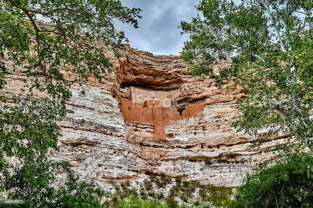 Montezuma's Castle Camp Verde  Arizona stock photo