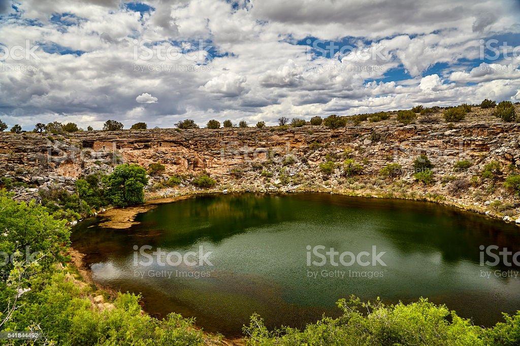 Montezuma's Well Camp Verde  Arizona stock photo