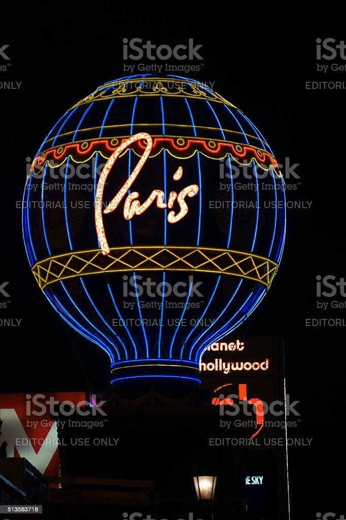 Montgolfier Balloon Paris Las Vegas stock photo