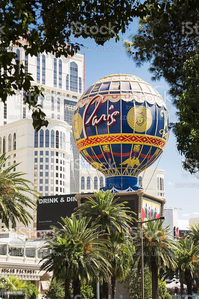 Montgolfier Balloon Replica at Paris Las Vegas hotel and casino stock photo