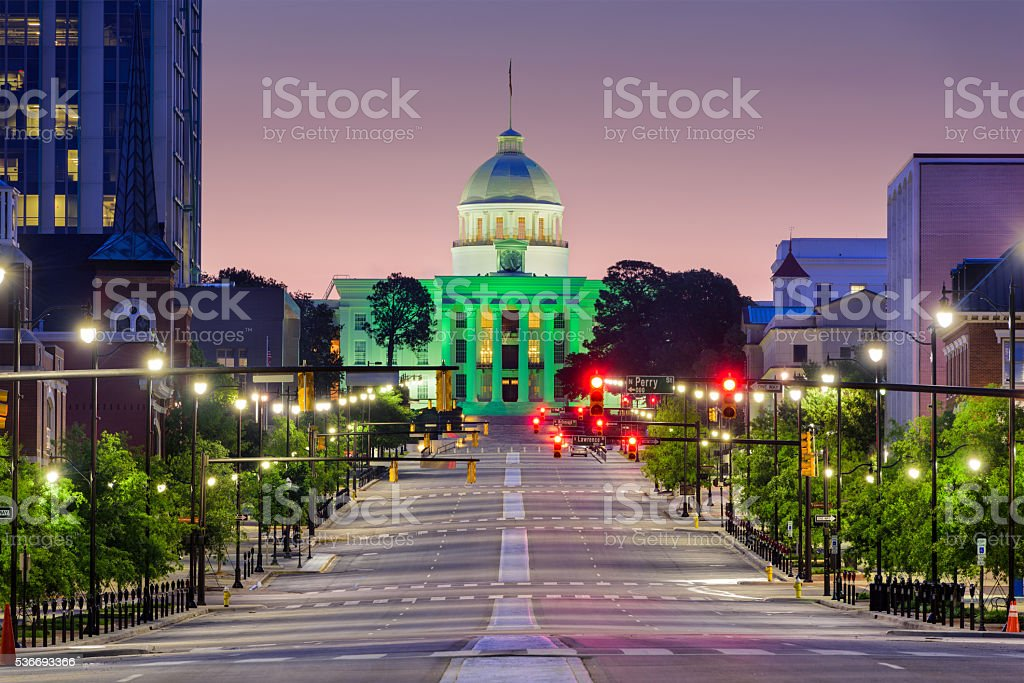 Montgomery Alabama Downtown stock photo