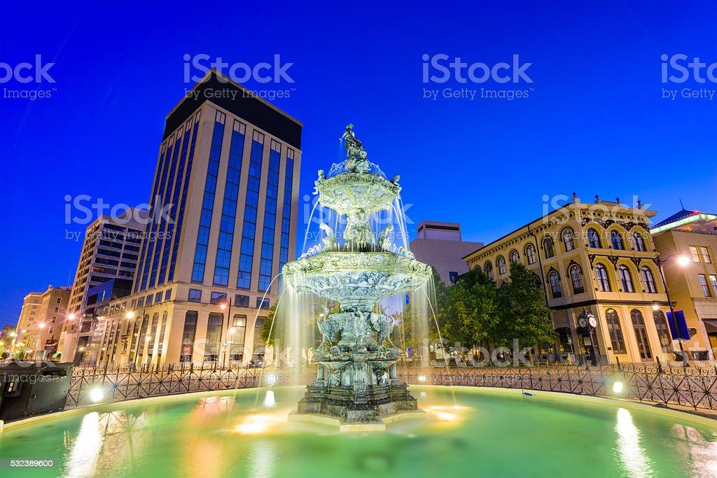 Montgomery Alabama Fountain stock photo