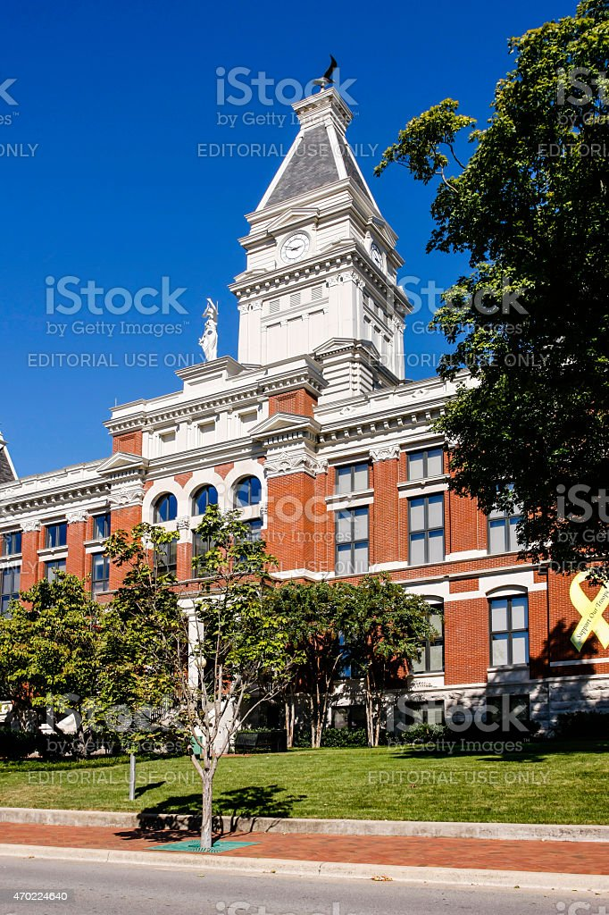 Montgomery County Courthouse, Clarksville TN stock photo