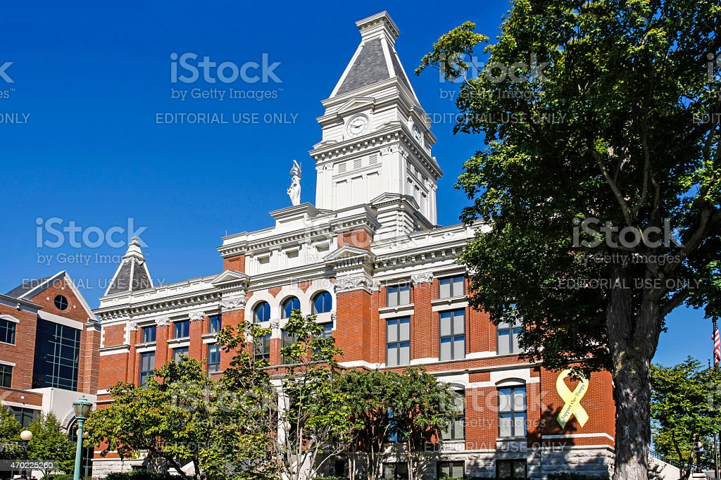 Montgomery County Courthouse in Clarksville TN stock photo