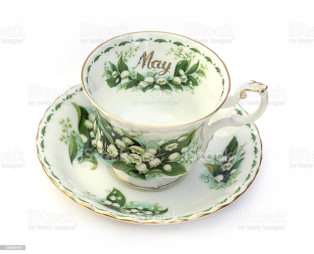 Month of May Tea Cup royalty-free stock photo