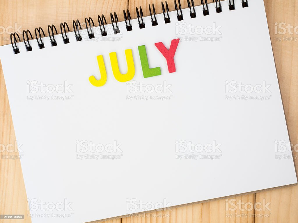 Month of the year 7 stock photo