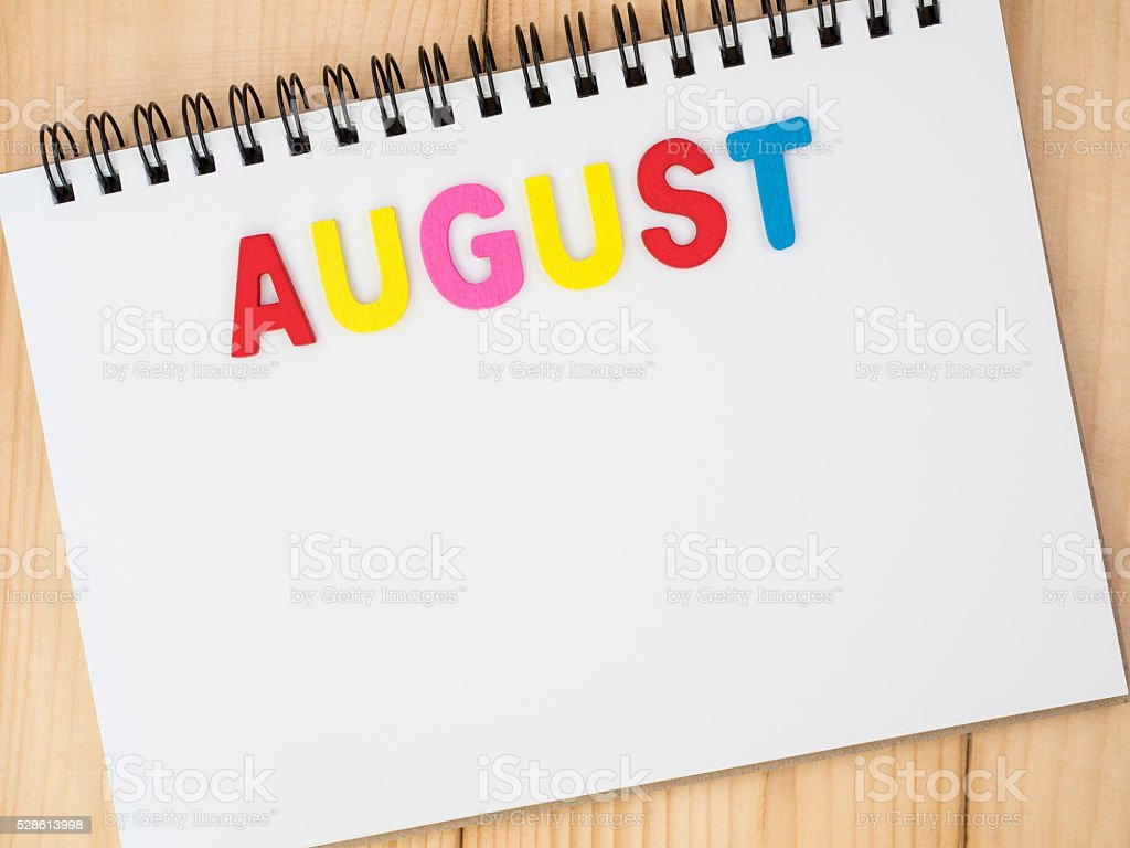 Month of the year 8 stock photo