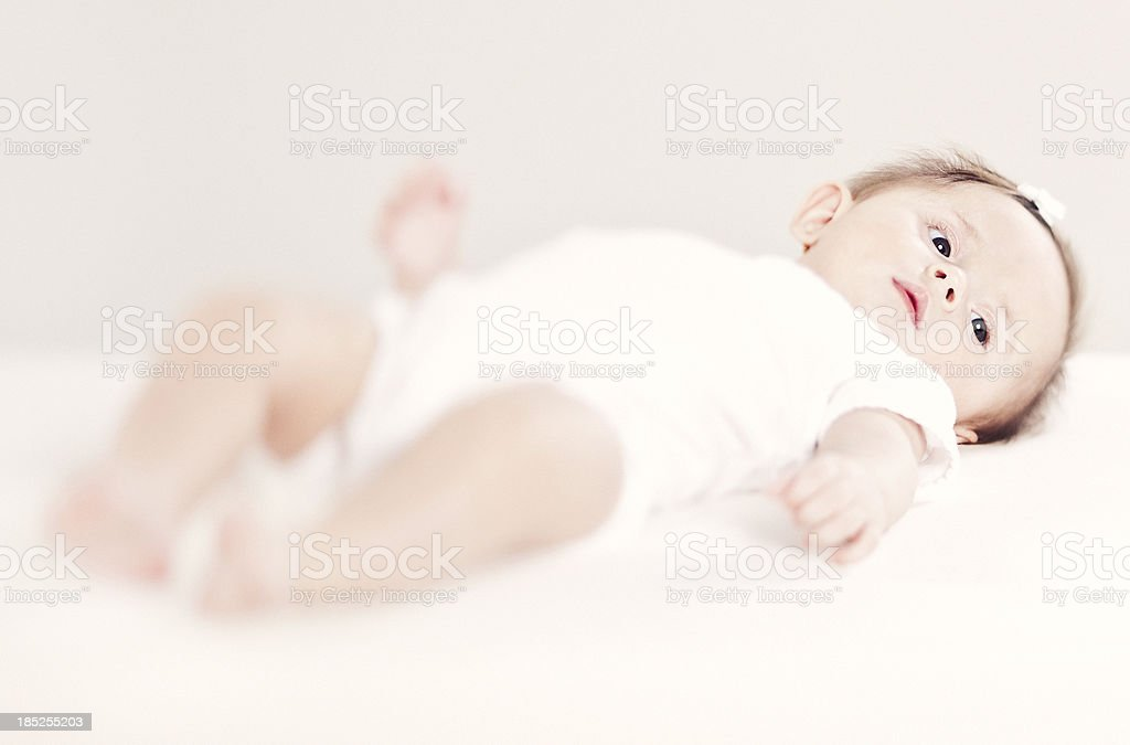 6 Month Old Baby stock photo