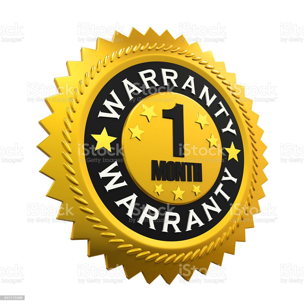 1 Month Warranty Sign stock photo