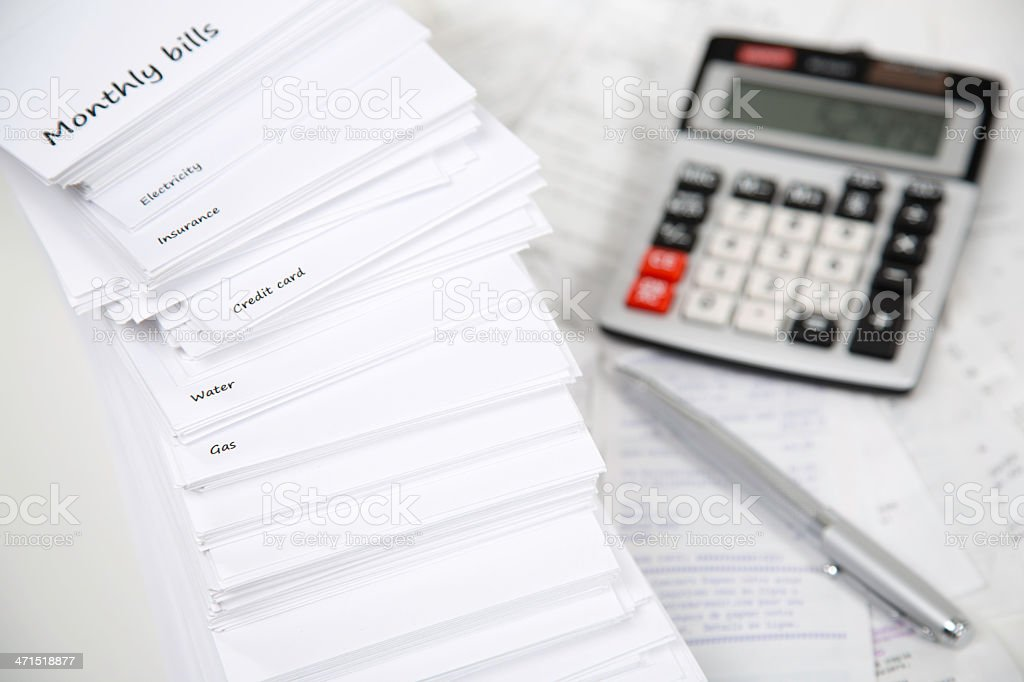Monthly Bills royalty-free stock photo
