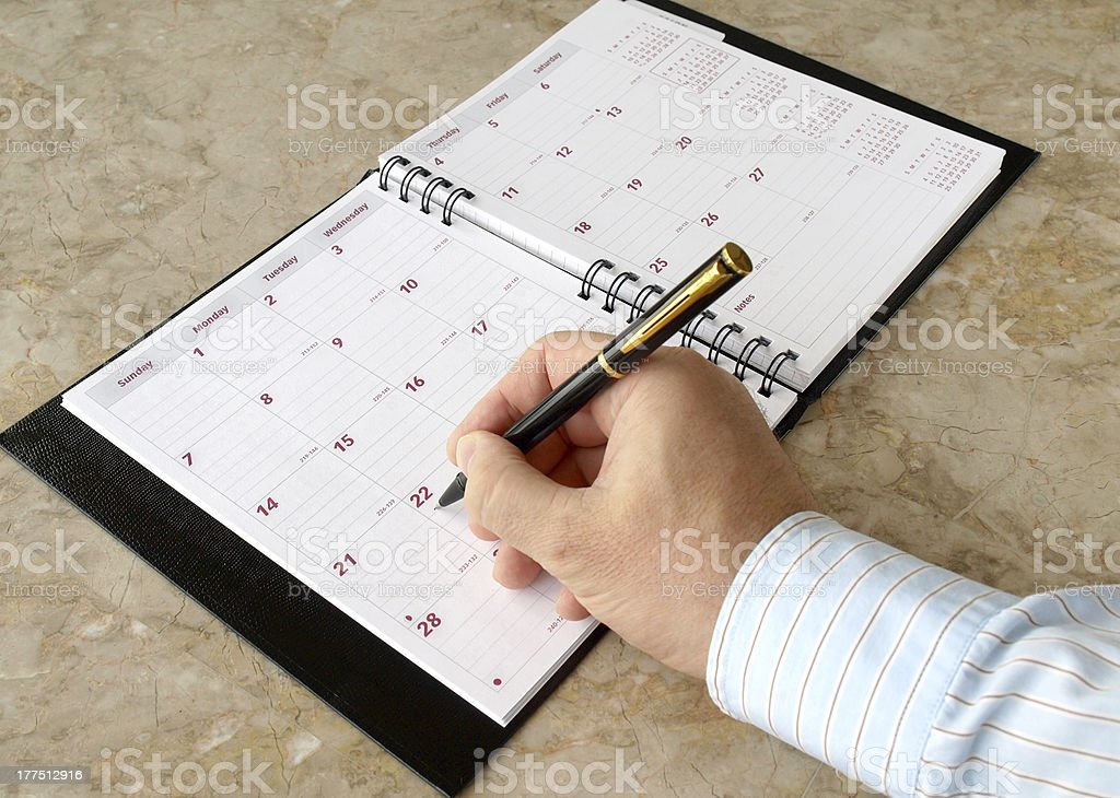 Monthly Planner royalty-free stock photo