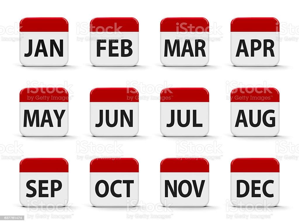 Months calendar stock photo