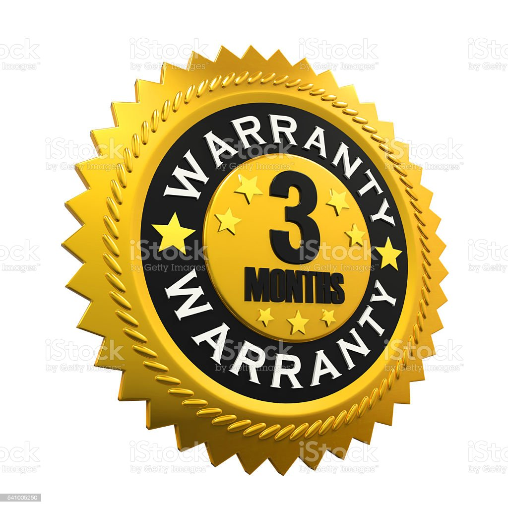 3 Months Warranty Sign stock photo