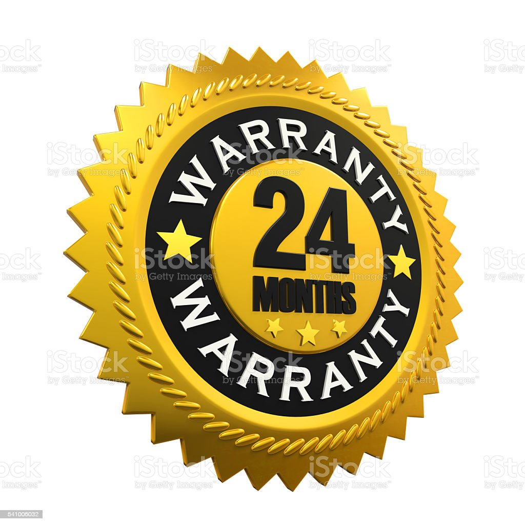 24 Months Warranty Sign stock photo