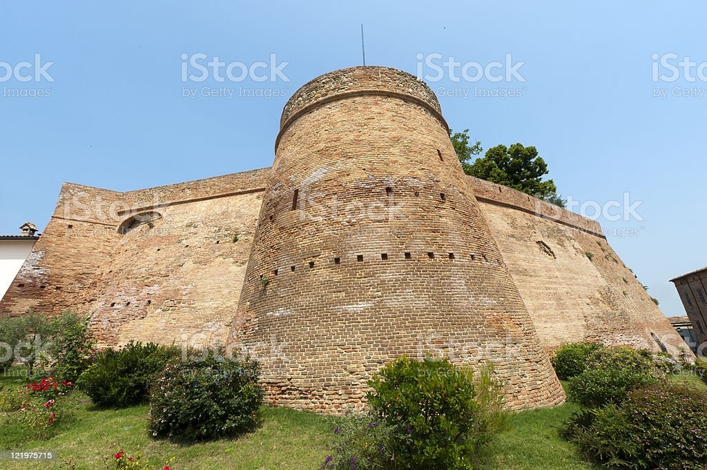 Montiano (Cesena - Forli, Emilia-Romagna, Italy), Old fortificated town stock photo