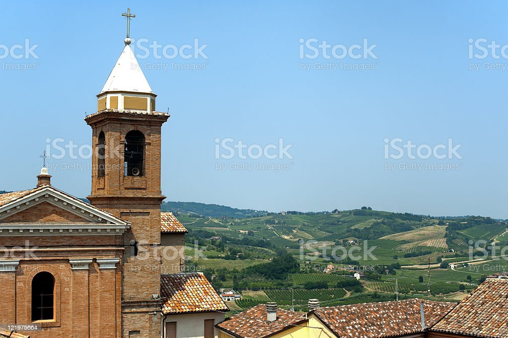 Montiano (Cesena - Forli, Emilia-Romagna, Italy), Old fortificated village stock photo