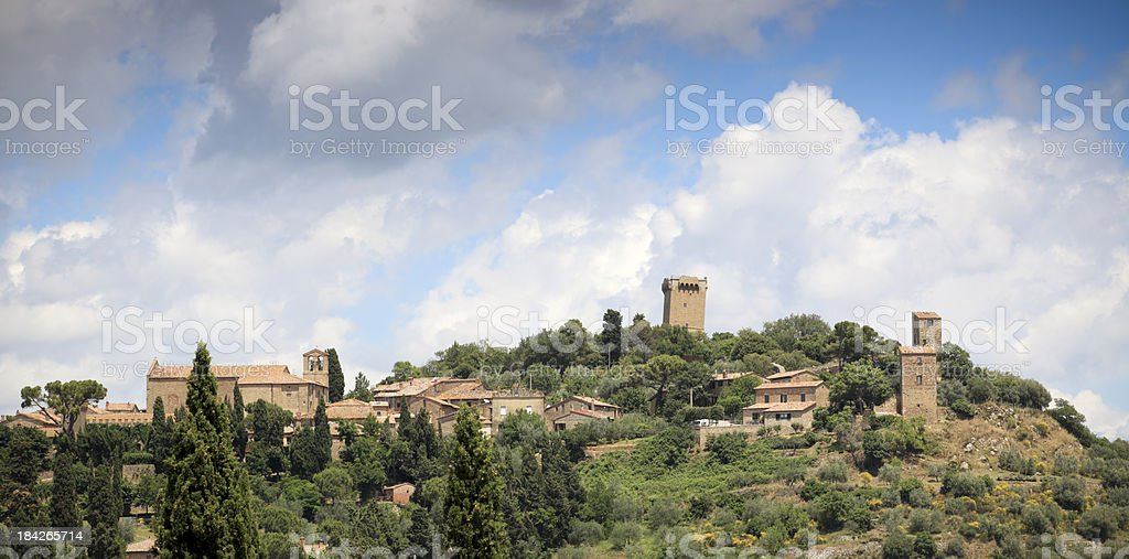 Monticchiello in Val d'Orcia, Tuscany Italy royalty-free stock photo