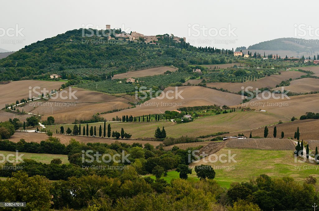 Monticchiello stock photo
