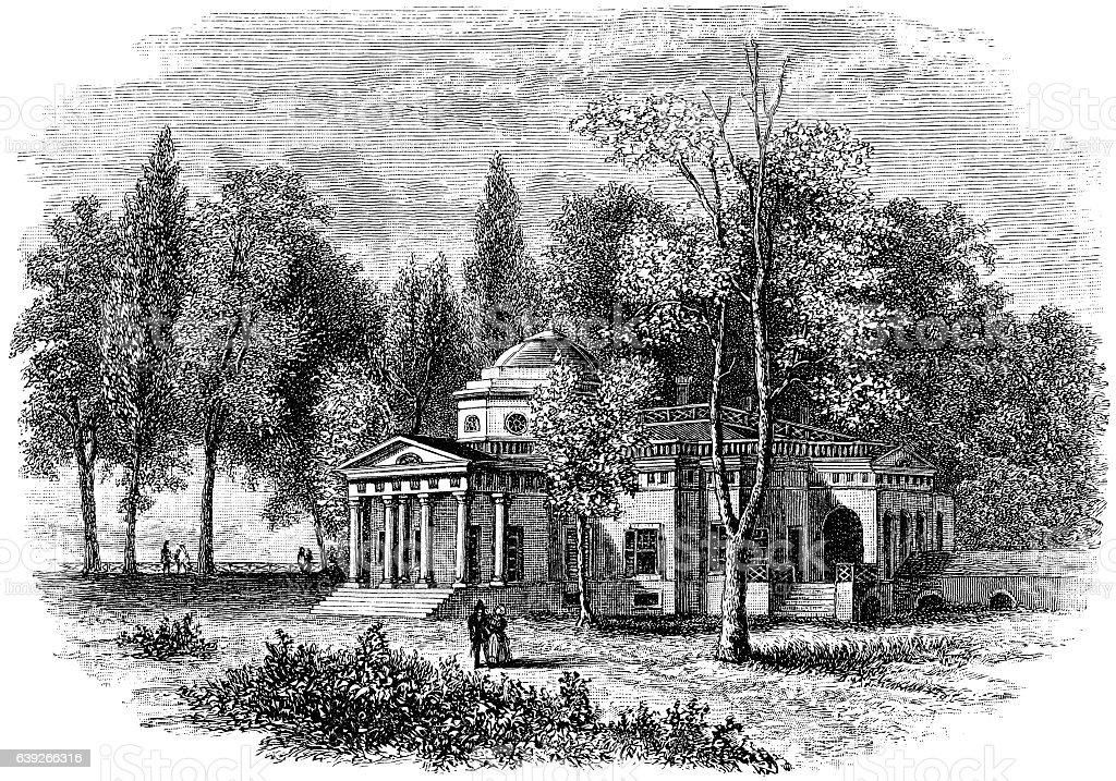 Monticello Virginia Home of Thoma Jefferson stock photo