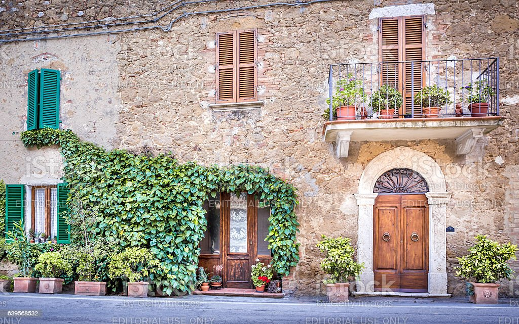 Montisi in Tuscany stock photo