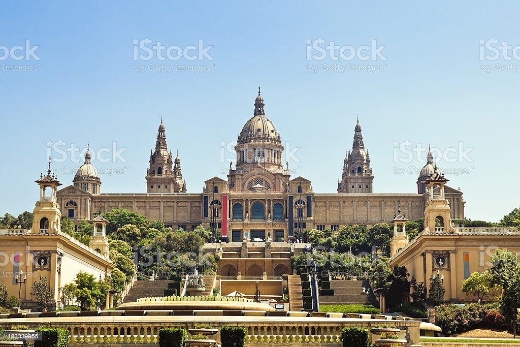 Montjuïc Palace , Barcelona stock photo