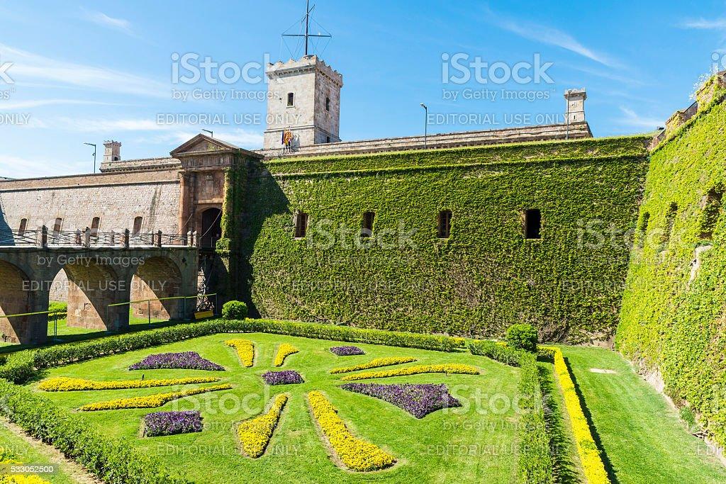 Montjuic Castle, Barcelona stock photo