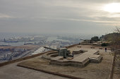 Montjuic Castle fortress on Jewish Mountain in Barcelona