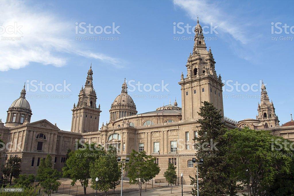 Montjuic Royal Palace stock photo