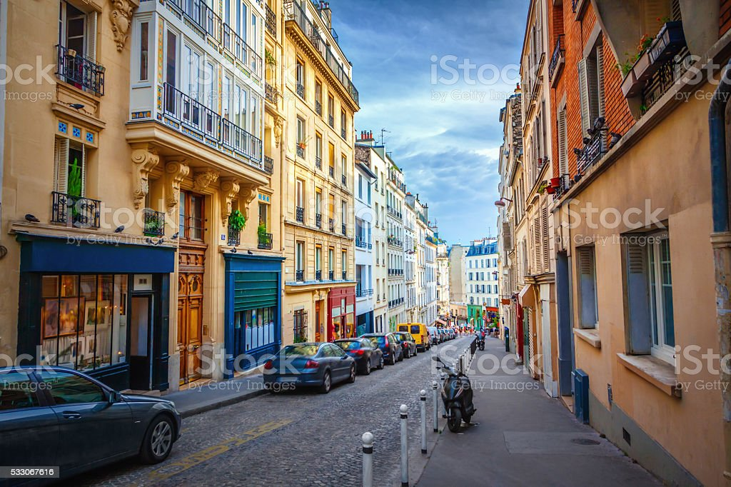 Montmartre in Paris stock photo